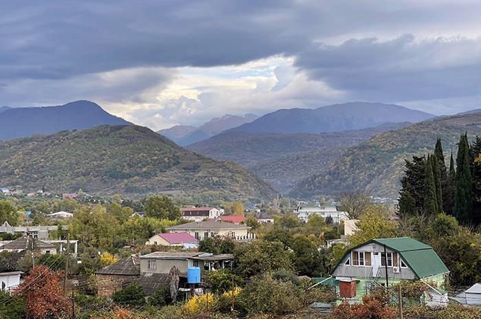 вид на море из коридора