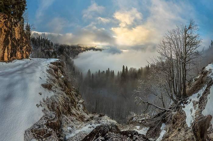 Зимняя горная Абхазия